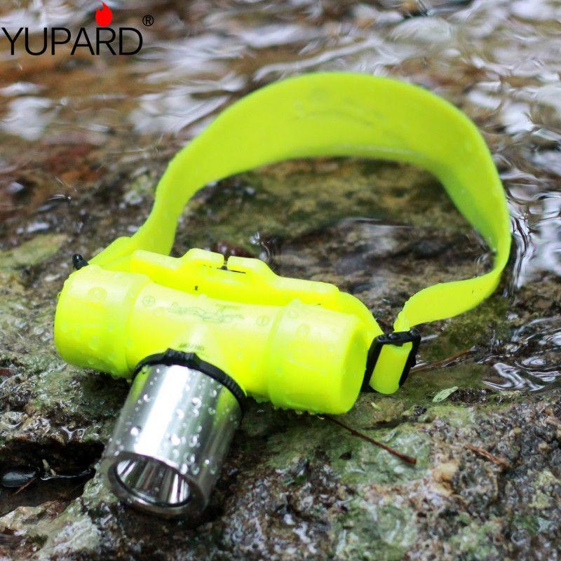 YUPARD waterproof Underwater 1000 <font><b>Lumen</b></font> XM-L XML T6 led Headlamp 60m Swimming Diving Dive Head Light Torch Lamp 18650/AAA