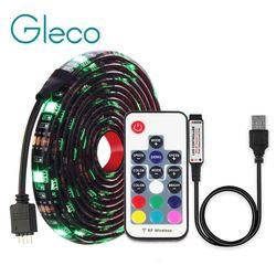 DC5V USB LED Strip RGB 5050 RGBW Rgbww 50 CM 1 M 2 M TV Pencahayaan Latar Belakang Flexibe LED Strip pita Perekat IP20/IP65 Tahan Air