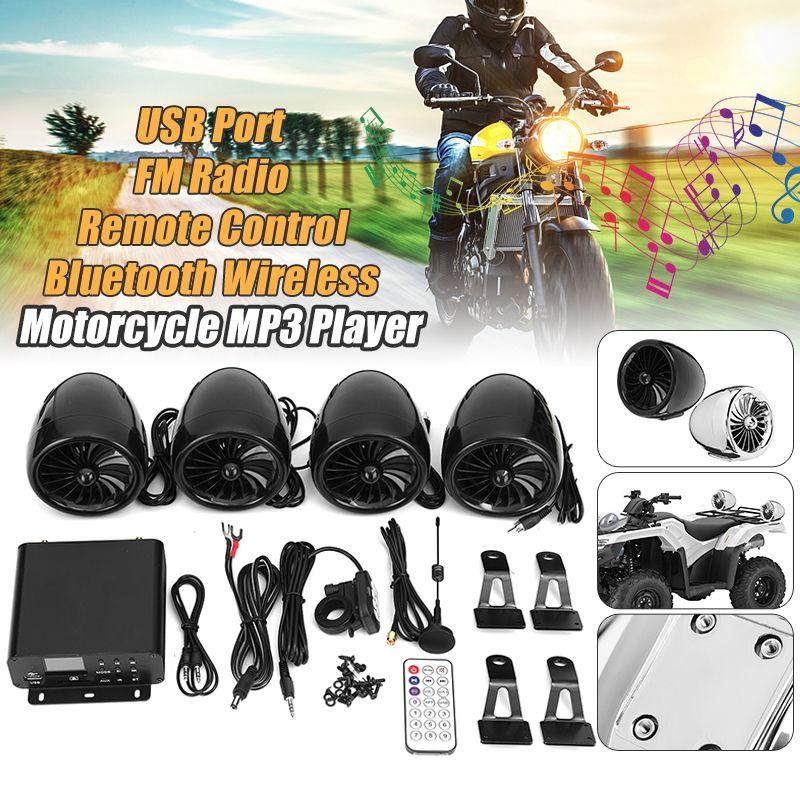 Mofaner 4PSC Motorrad ATV Audio1000W 12 v LCD Bluetooth 4 Lautsprecher + Verstärker Lenker System Motorrad/ATV