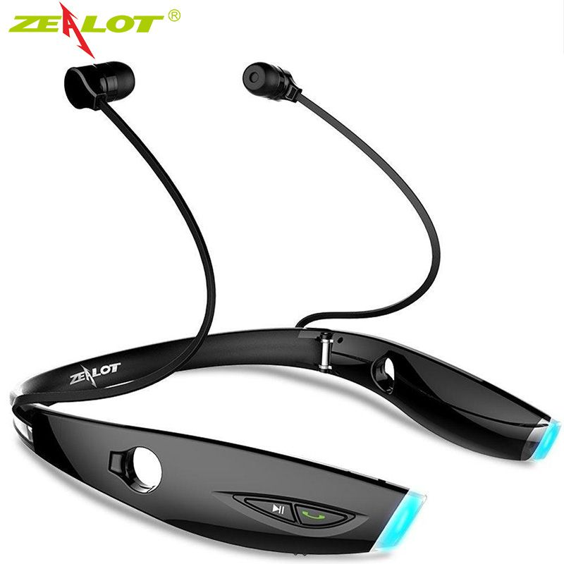 Zealot H1 Wireless Sports Bluetooth Headset Wateproof FOLDABLE Stereo Bluetooth Earphone Headphone with Mic for iPhone & Android