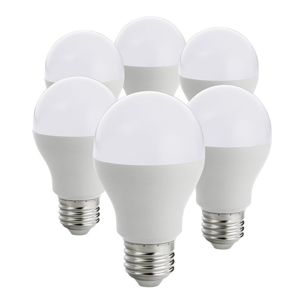 LED Bulbs E27 Light Bulbs, A19 Globe Blub, 9W Equivalent to Traditional 60W Bulb, 3000k, Soft White (Pack of 6)