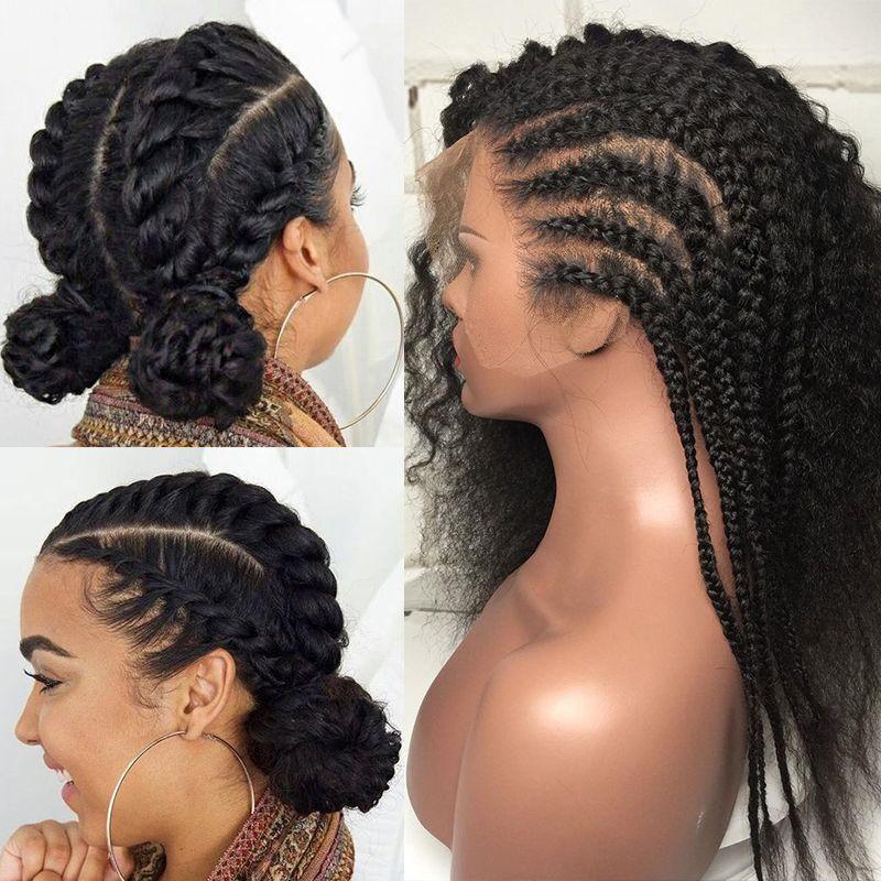 Bouclés sans colle pleine dentelle perruques de cheveux humains pré plumé 250 densité brésilienne vague profonde Transparent dentelle avant perruque toujours beauté Remy