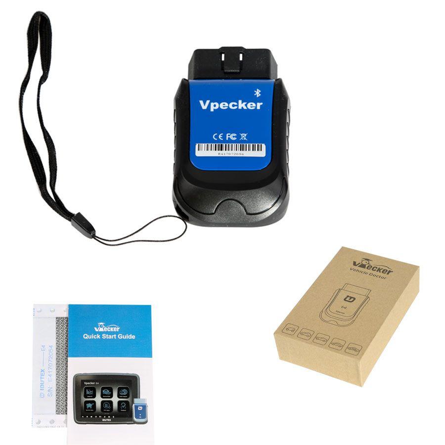 Easydiag OBDII Vpecker E4 für ABS Blutungen/Batterie/DPF/EPB/Injektor/Öl Reset/TPMS für Android system codierung zurücksetzen