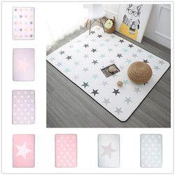 Korea Desain Bintang Dicetak Karpet Anti-Slip Lantai Karpet Bath Mat Lembut Bayi Bermain Karpet untuk Ruang Tamu Dalam Ruangan kamar tidur Karpet