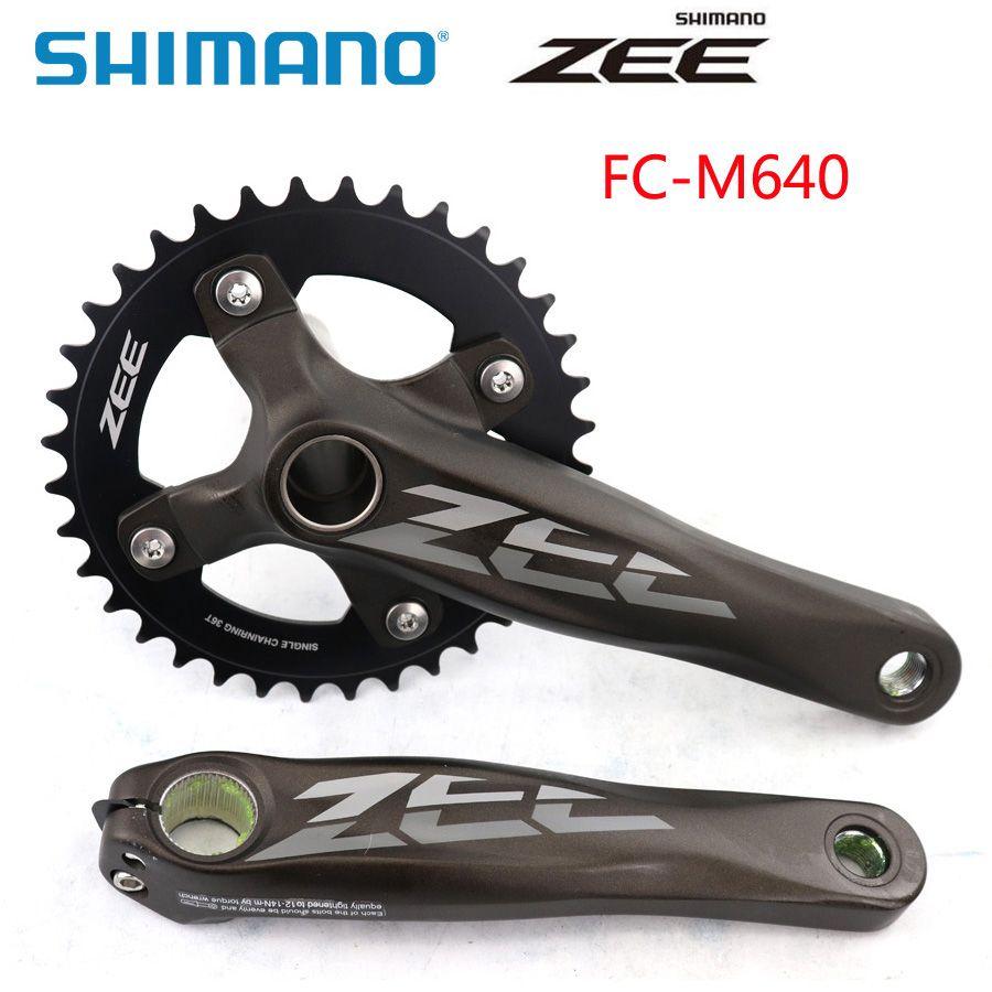 SHIMANO ZEE FC-M640 FC-M645 Kohlenstoff-kurbelgarnitur MTB 36 T Fahrrad Kette Rad 165 MM 170 MM Kurbel Fahrrad Teile Wählen Kollokation BB52