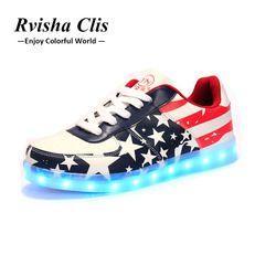 Светящиеся кроссовки usb зарядка корзина светодио дный светодиодная детская обувь с подсветкой обувь девочек светодио дный мальчиков LED шле...