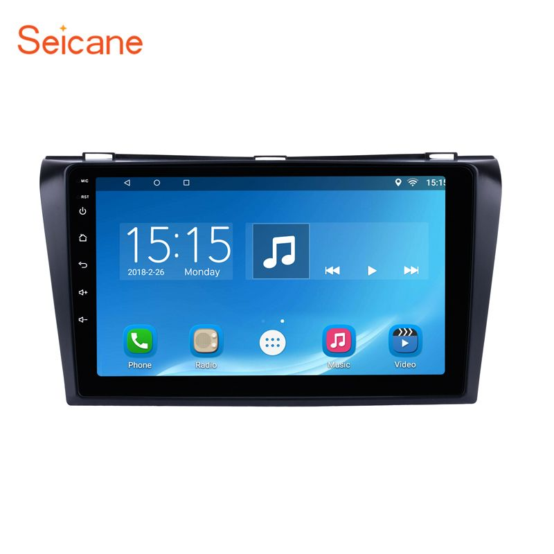 Seicane Android 6.0 2Din 9 inch Car DVD Multimedia Player For 2004 2005 2006 2007 2008 2009 Mazda 3 Quad-core 1024*600 GPS Wifi