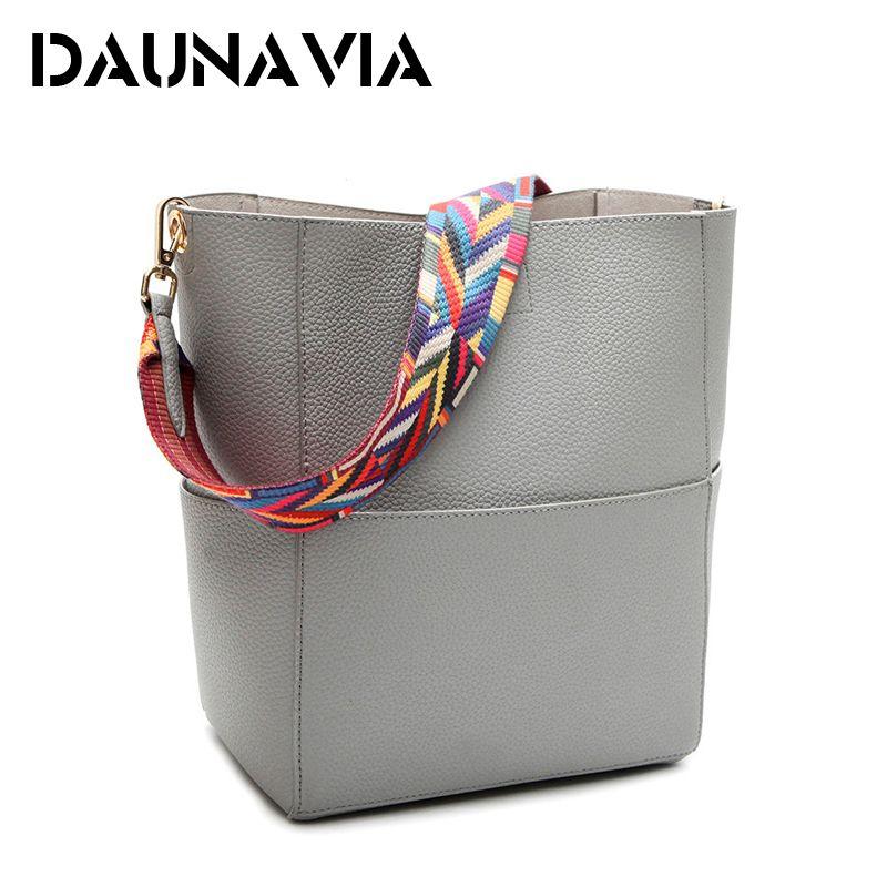 DAUNAVIA Luxus Handtaschen Frauen Tasche Designer Marke Berühmte Umhängetasche Weibliche Vintage Umhängetasche Pu-leder Grau Crossbody