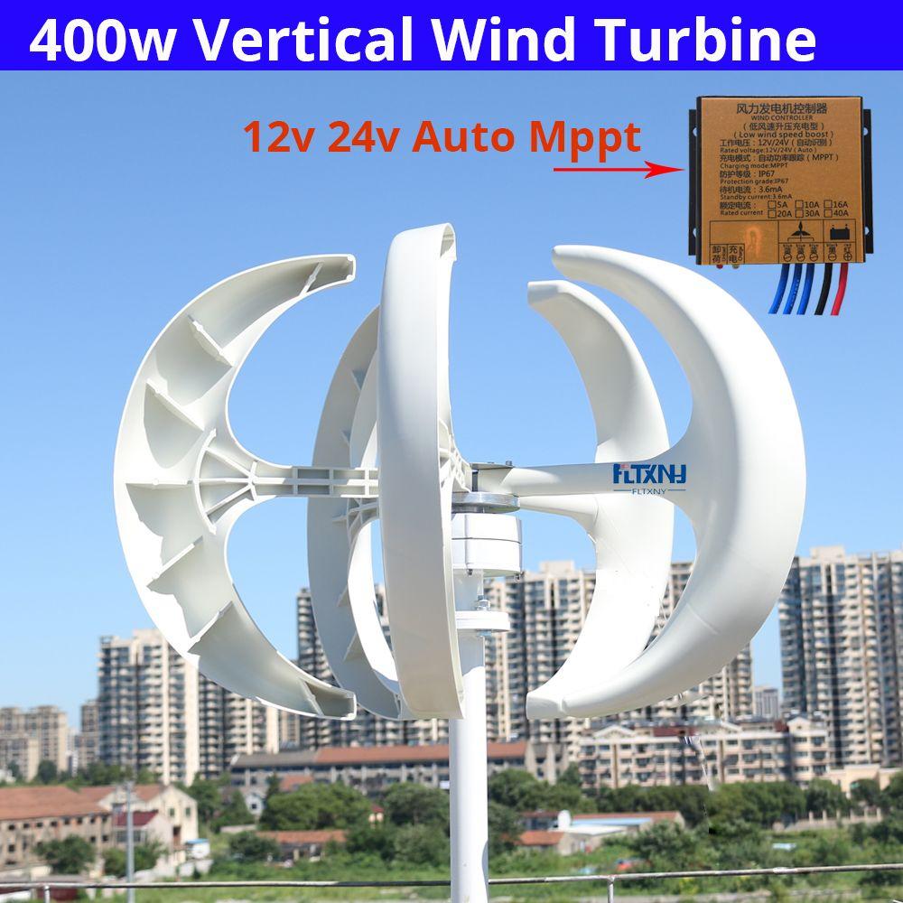 Heißer verkauf! günstige vertikale wind turbine permanent magnet generator drei phase 400 watt 12V24V vertikale achse windmühle mit controlle
