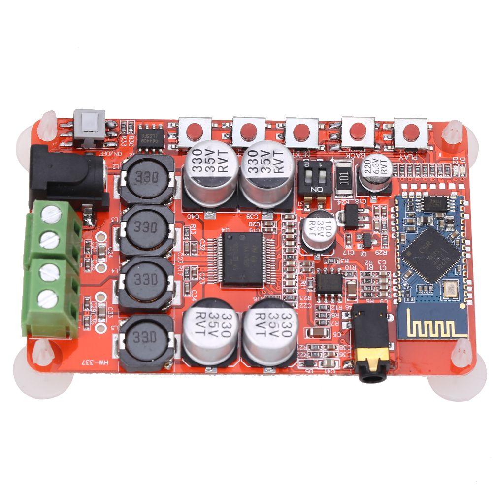 Wireless Bluetooth 4.0 <font><b>Amplifier</b></font> Board Audio Receiver Digital TDA7492P DC 8~25V 50W+50W <font><b>Amplifier</b></font> Board Part Component L3FE