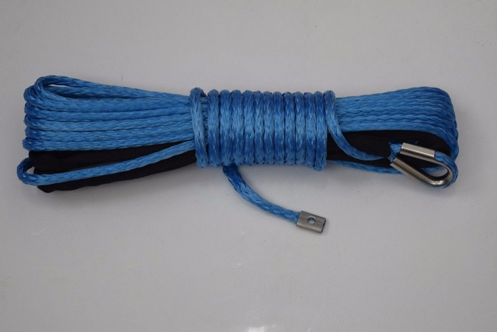 Free Shipping Blue 8mm*15m Synthetic Winch Rope,5/16