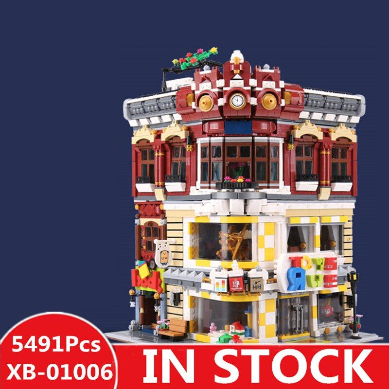 XINGBAO 01006 5491Pcs Genuine Creative MOC City Series The Toys and Bookstore Set Children Building Blocks Bricks Toy Model Gif