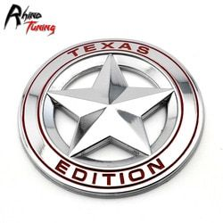 Pentagram Texas Edisi Lambang Stiker Bodi Mobil Sisi Sayap Lencana untuk Tacoma Tundra Auto Styling