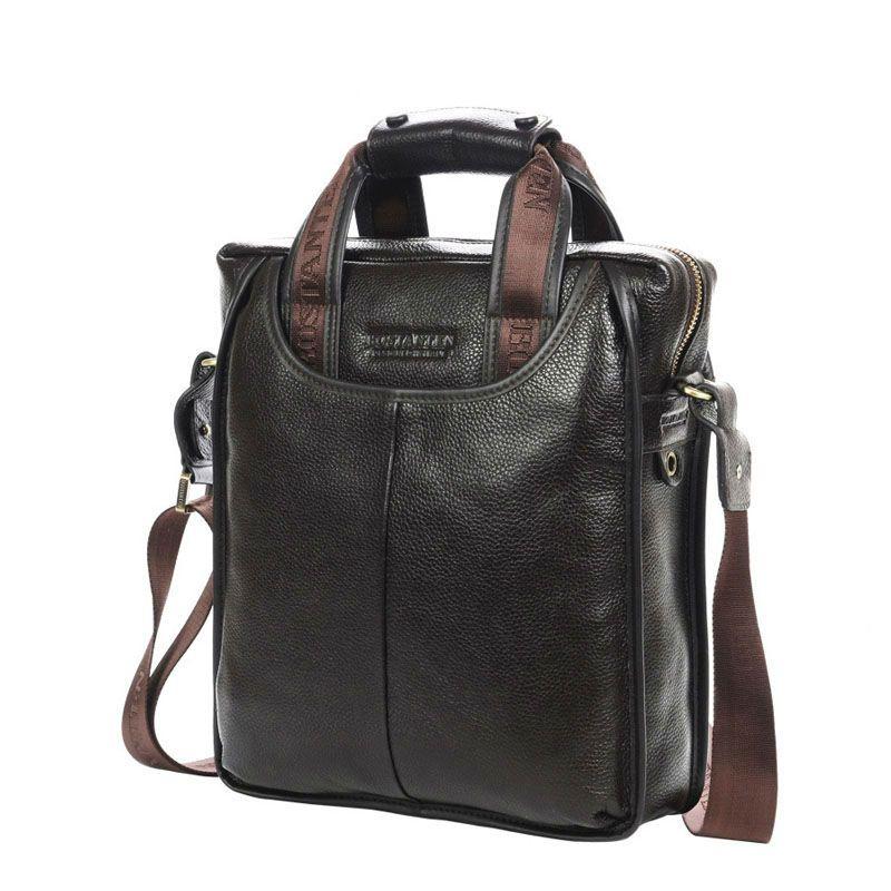 Bostanten 100% Top en cuir de vachette véritable épaule loisirs sac pour hommes affaires Messenger mallette portable ordinateur portable sac décontracté