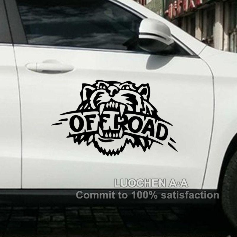 Autocollants de voiture tigre hors route autocollants amusants créatifs drôles pour SUV Jeep imperméable Auto Tuning style vinyles 4WD 4x4 33 cm 50 cm D22