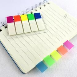 100 piezas transparente plástico Color Index Tabs Flag Sticky Note instruir marca página etiquetas engomadas etiqueta Oficina Papelaria suministros