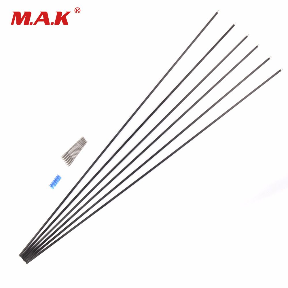 6/12 Pcs X10 Carbon And Aluminum Hybrid Set Arrow 32 Inches Spine 550 Outer Diameter 5.2mm Inner-type Tips for Archery Hunting
