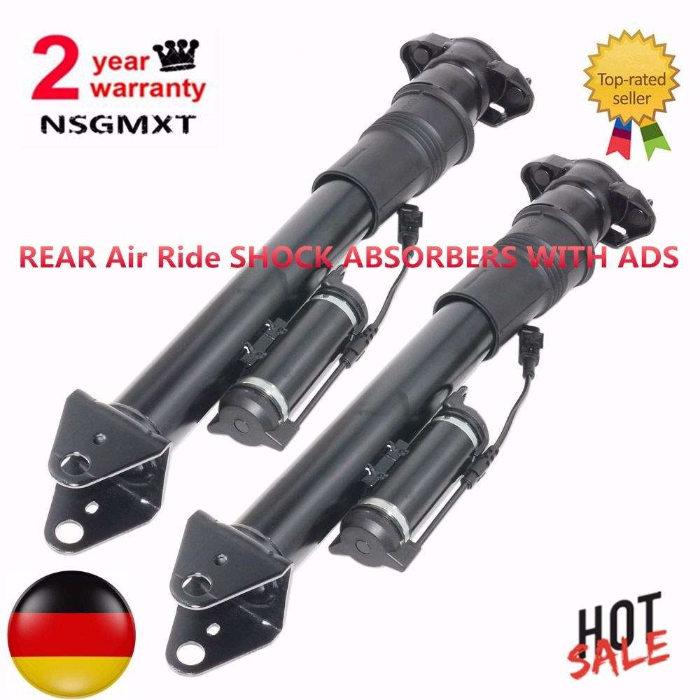 2PCS REAR Air Ride SHOCK ABSORBERS WITH ADS For Mercedes Benz ML W164 GL X164 NEW 1643200731 1643202031 1643202731 1643203031