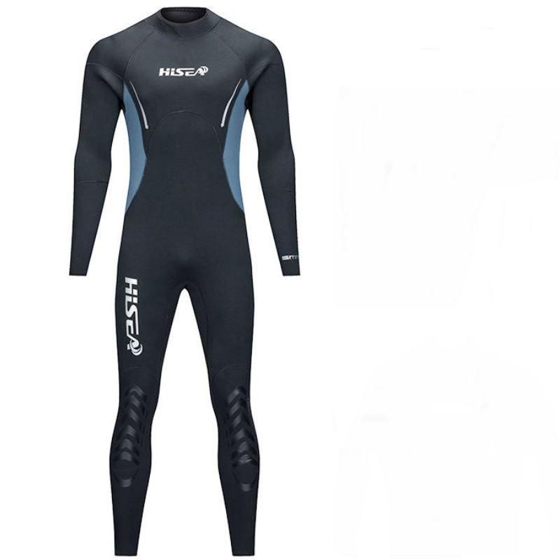 Men Spearfishing Wetsuit 5mm Neoprene One Piece Swimsuit Diving Surf Snorkel Swim Wet Suit Swimwear Long sleeve Beach Triathlon