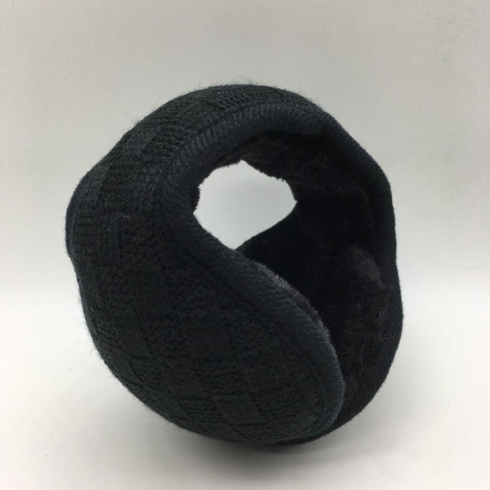 Winter  fashion warm earmuffs knitting grid unisex Ear warmer