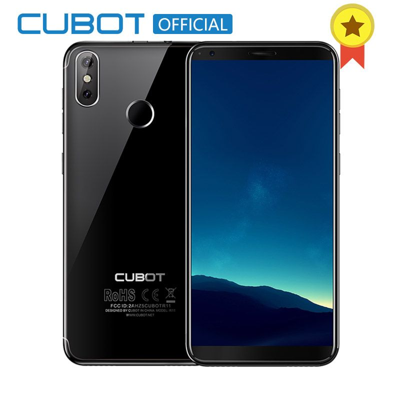 <font><b>Cubot</b></font> R11 Android 8.1 18:9 2GB 16GB MT6580 Quad Core Fingerprint Smartphone 5.5'' 1440x720 HD+Screen Dual Back Cameras Celular