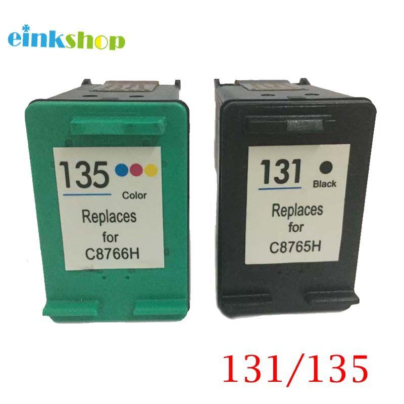 Einkshop 131 135 Cartouches D'encre rechargées Remplacement pour hp 131 135 Photosmart C3100 C3183 C3150 C3180 PSC1500 1510 1513 1600