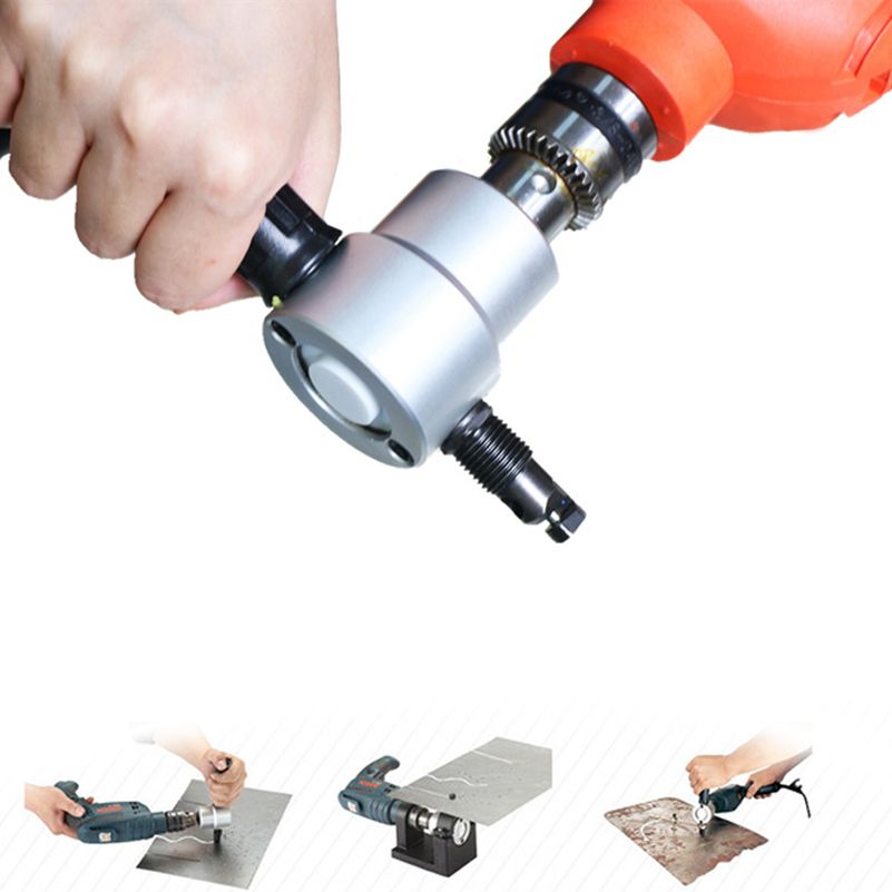 Prostormer Metal Cutting Double Head Sheet Nibbler Saw Cutter Tool Drill Tackle Car Repair Metal Sheet Tools Accessaries