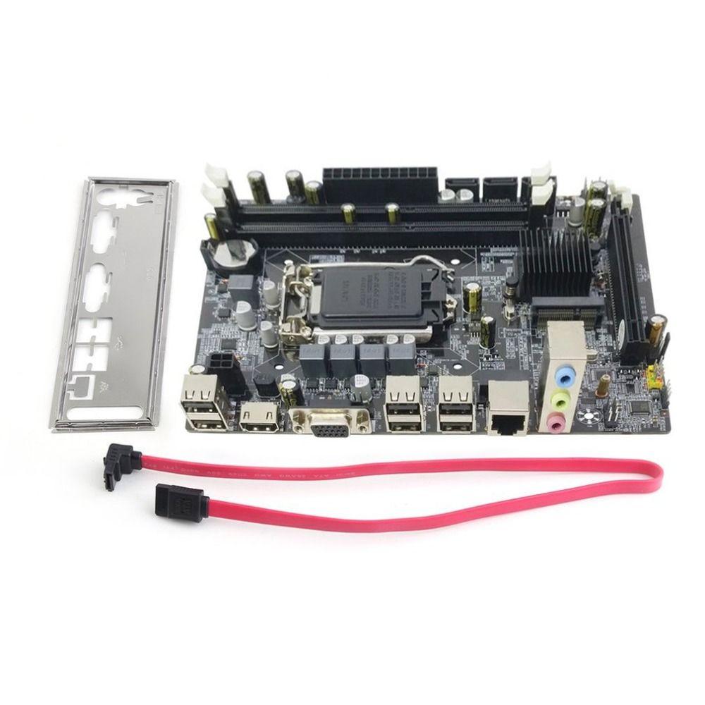 Professional Motherboard H55 A1 LGA 1156 DDR3 RAM 8G Board Desktop Computer Motherboard 6 Channel Mainboard