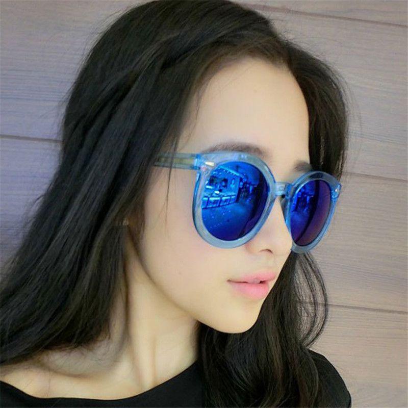 2017 New ADA01-ADA18 Rainbow reflection sunglasses wholesale round frame sunglasses women sunglasses
