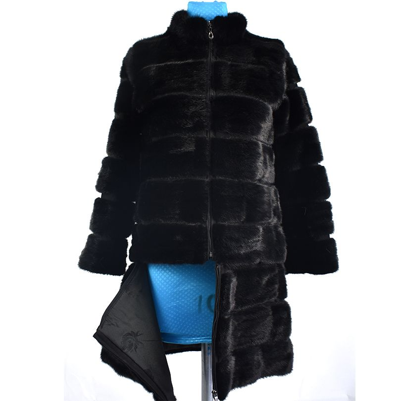 2018 echte nerzpelzmantel jacke transformator abnehmbare abnehmbare bottom frauen natürlichen fuchspelz mantel dicke warme street style