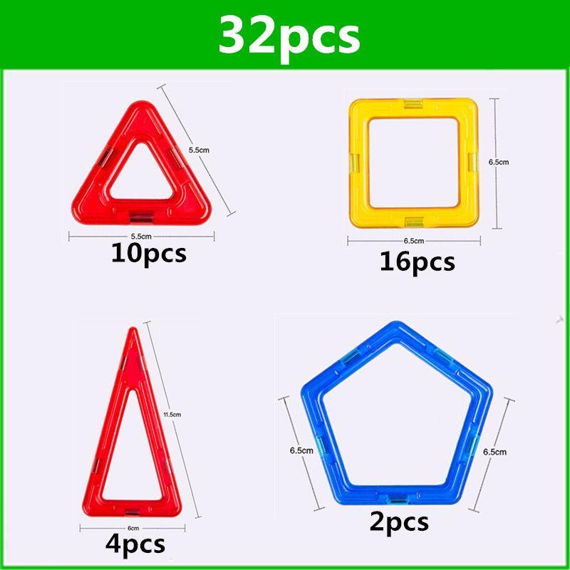 32 pièces taille standard blocs de construction magnétiques modèle construction jouets brique designer éclairer briques jouets magnétiques