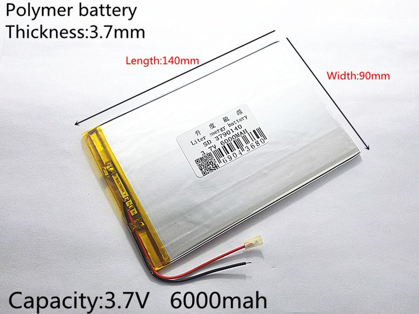 large capacity 9inch 10.1inch 3.7 V tablet battery 6000 mah each brand tablet universal rechargeable lithium batteries 3790140