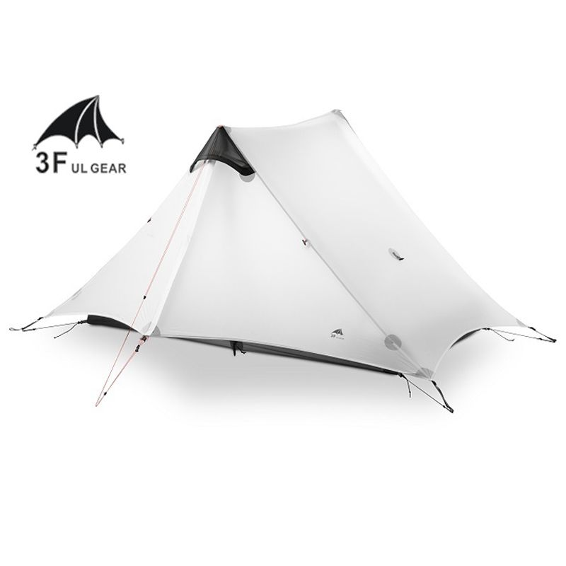 2018 LanShan 2 3F UL GEAR 2 Person Oudoor Ultralight Camping Tent 3 Season Professional 15D Silnylon Rodless Tent 4 Season