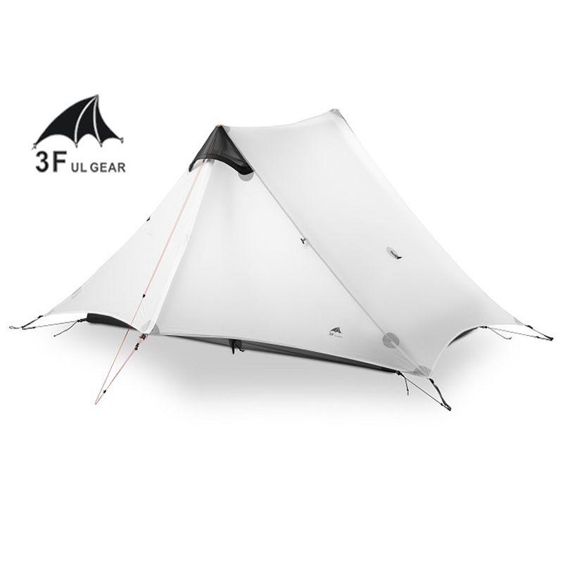 2018 LanShan 2 3F UL GEAR 2 Person Oudoor Ultralight Camping Tent 3 Season Professional 15D Silnylon Rodless Tent 4 Season