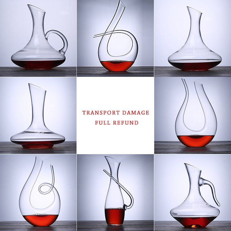 1Pcs Wine Decanters Handmade Crystal Red Wine Pourer Glass Decanter Brandy Decant Set Jug Bar Champagne Drinking Glasses Gift