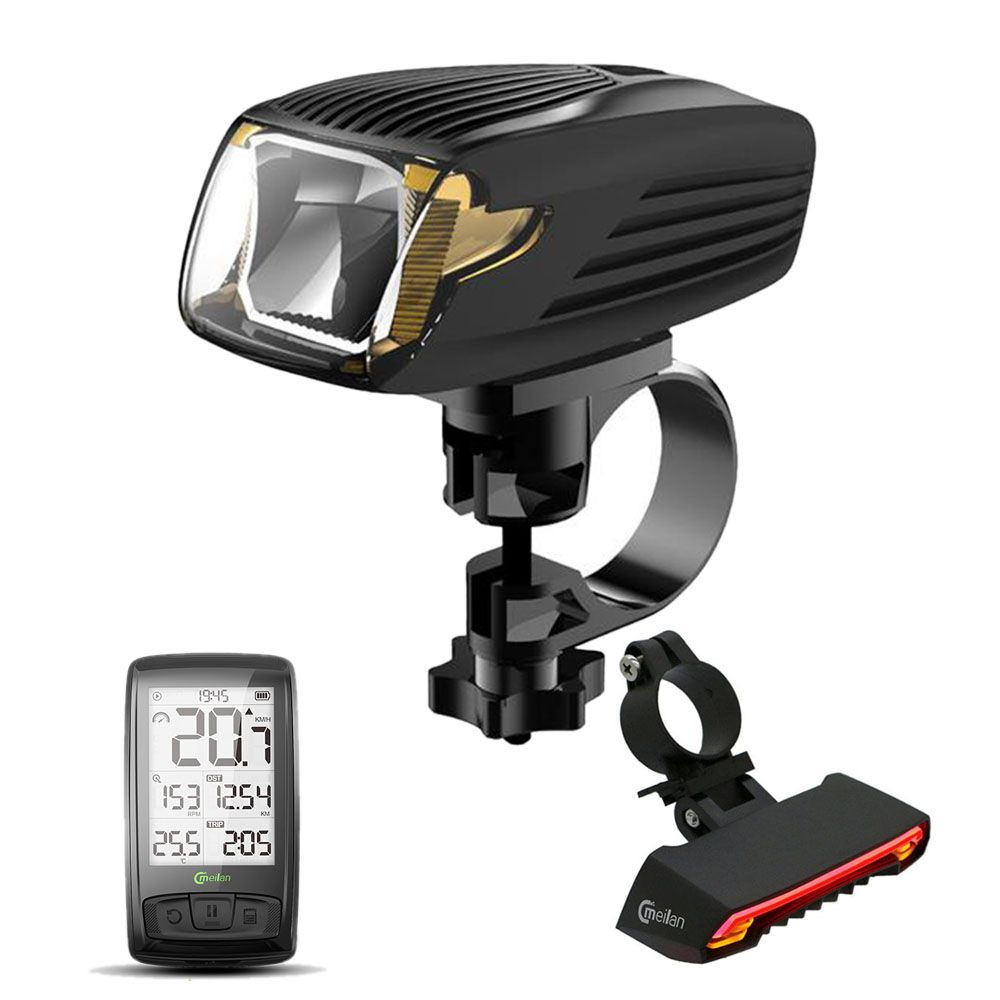 Meilan Bike Computer Speedometer X5 Rear lamp Cycling tail lights X1 Smart Bicycle Light Bike Led Front Light