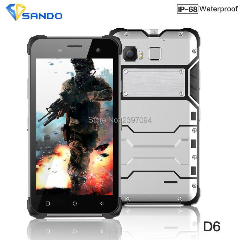 JEASUNG D6 Robuste Telefon IP68 Octa-core Android 6.0 Wasserdicht 4G LTE Stoßfest 4G RAM 64G ROM 13MP NFC Fingerprint Magnet OEM