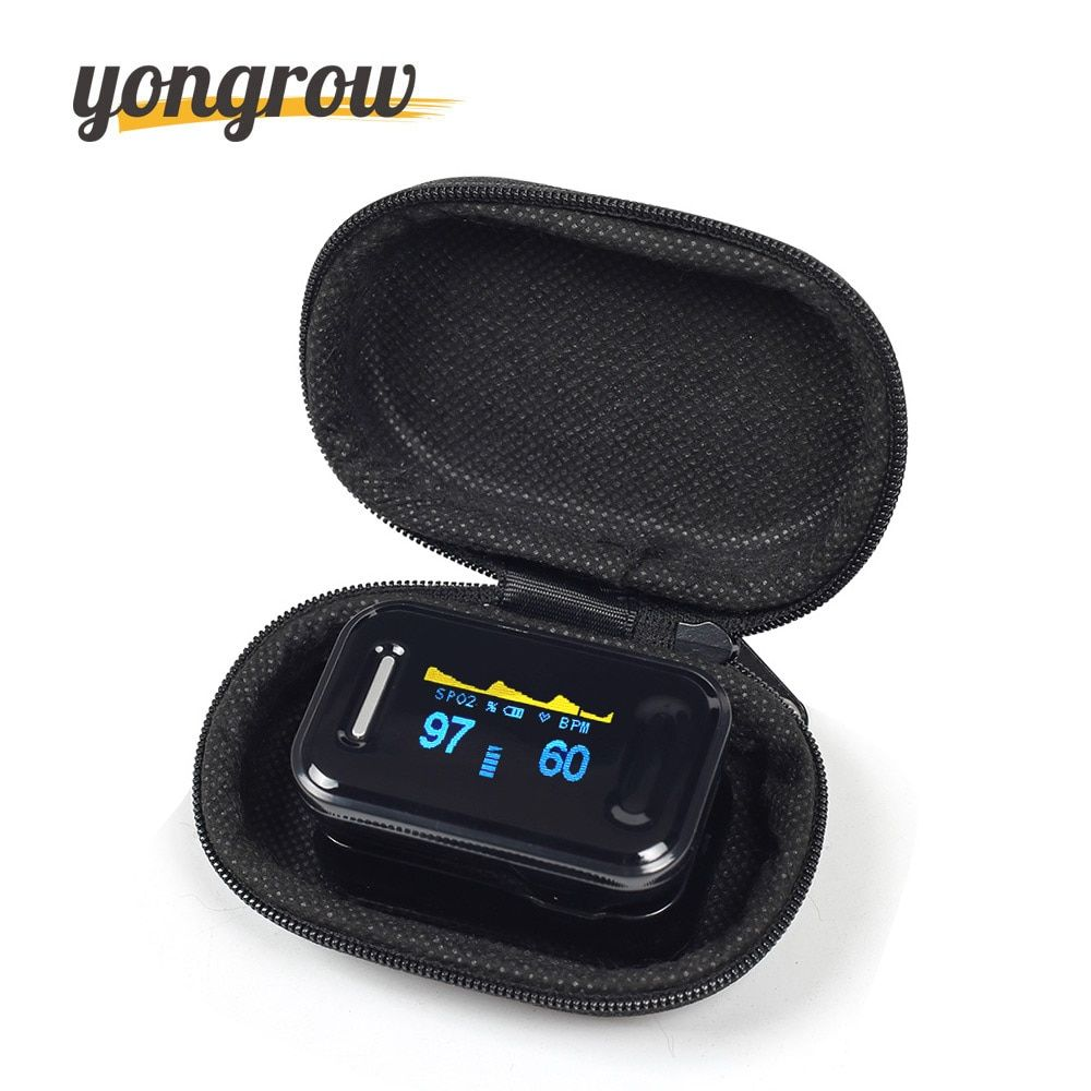 Yongrow Medical CE FDA Fingertip Pulse Oximeter Digital Pulse Oximeter <font><b>Blood</b></font> Oxygen Saturation Monitor Health Care Spo2 PR OLED