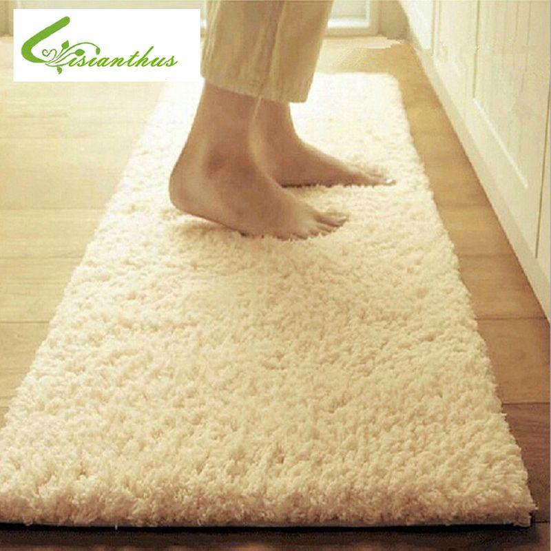 50*160 cm grande taille en peluche Shaggy tapis doux tapis antidérapants tapis de sol pour salon chambre fournitures de maison
