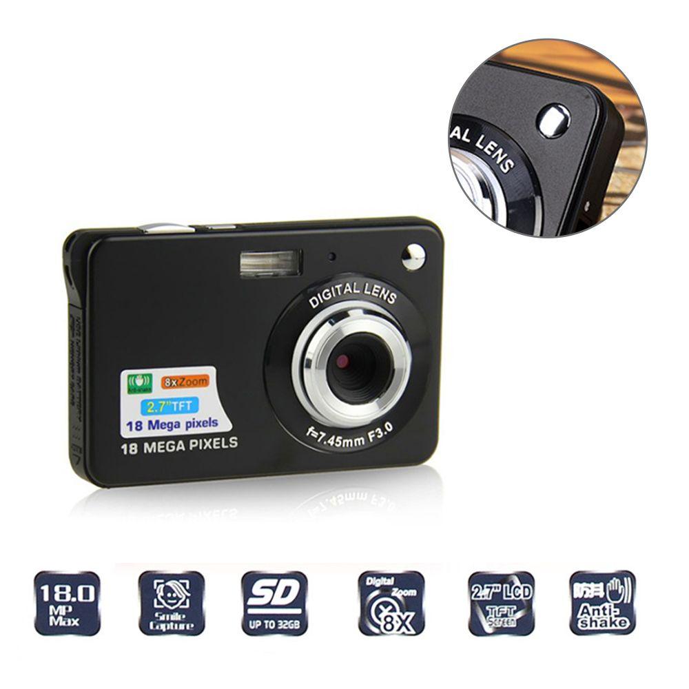 18 mega píxeles CMOS 2.7 pulgadas TFT Cámara pantalla LCD HD 720 p cámara digital toma fotos niños regalo
