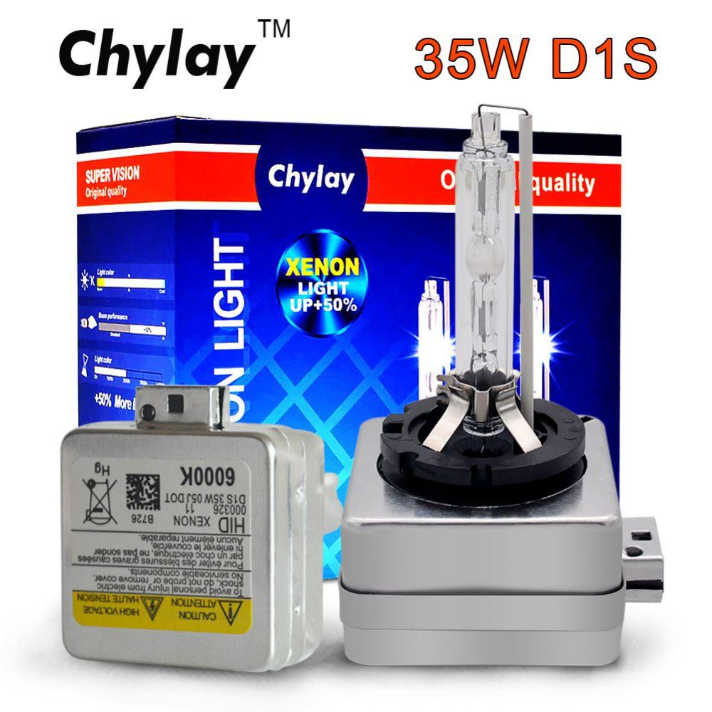 2X xenon D1S D1C 35W ampoules d'origine qualité Chylay marque avec support en métal Protection pour phare de voiture 4300K 5000K 6000K 8000K