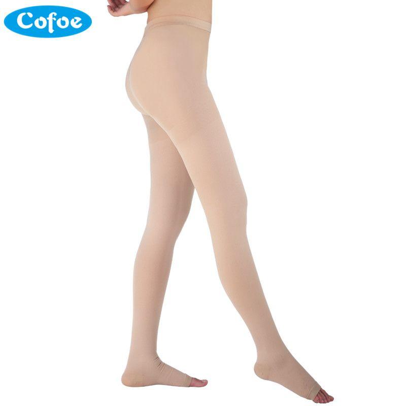 Cofoe A <font><b>Pair</b></font> Medical Varicose Veins Socks 34-46mmHg Pressure Level 3 Pantyhose Socks Varicose Veins Sock Compression Socks