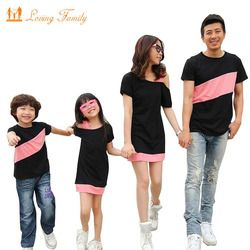 Family lihat clothing bahu khusus untuk ibu putri dresses anak keluarga pakaian keluarga pencocokan pakaian t-shirt untuk ayah
