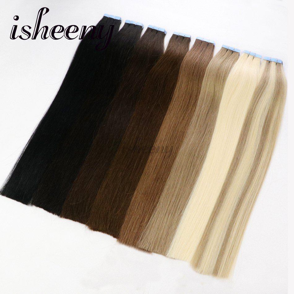 Isheeny Salon Tape Hair Double Drawn Hair 16