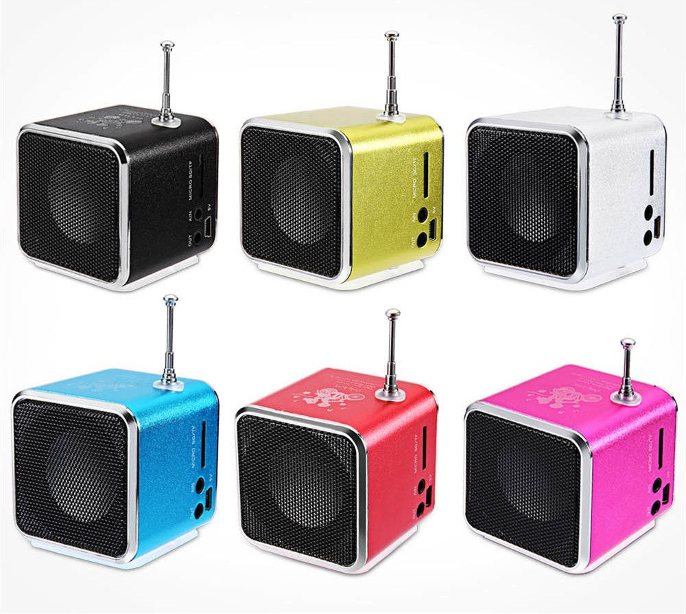 New Hot TD-V26 Portable Mini Speaker portable radio with Digital and Micro SD / TF / USB / FM Radio