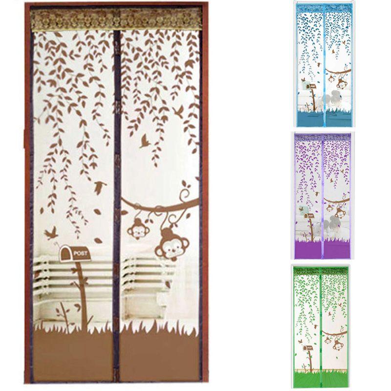 1 Unids 4 Colores Puerta Cortinas Magnéticas Prevent Mosquitera Ventana de Malla con Imanes en la Pantalla de la Puerta