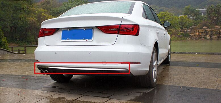 For Audi A3 8V Sedan Stainless Rear Bumper Molding Cover Trim 2012-2015