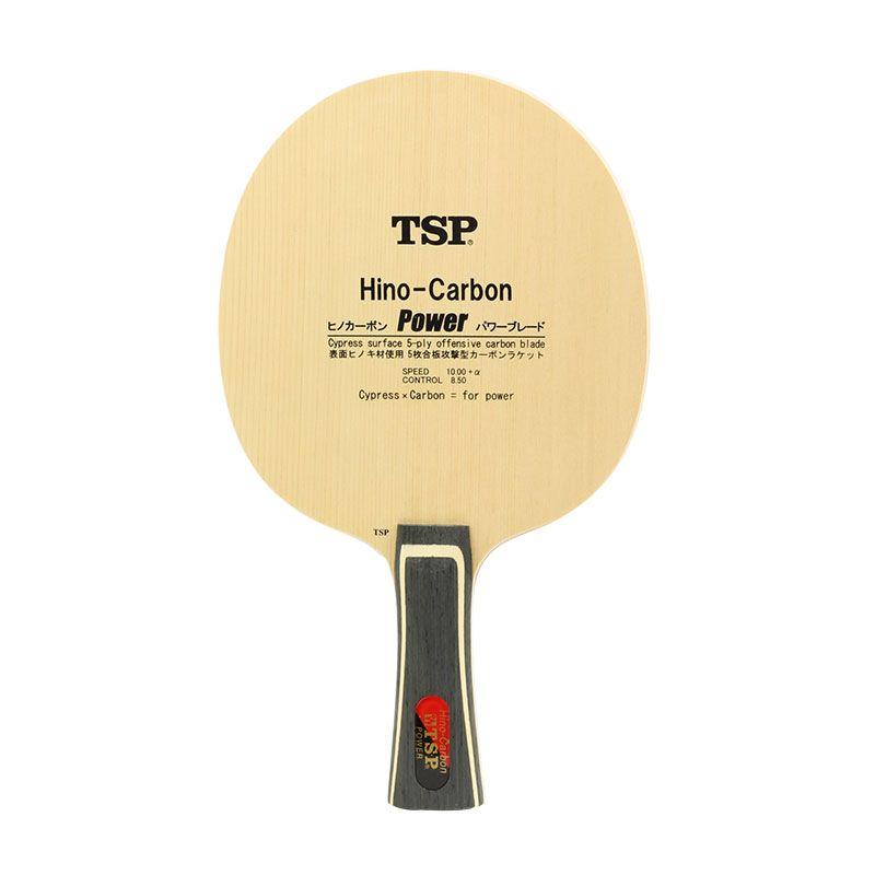 TSP Hino-Carbon Power (Li Jiawei's) Table Tennis Blade (3+2 Carbon, Hinoki Surface) Racket Ping Pong Bat Paddle