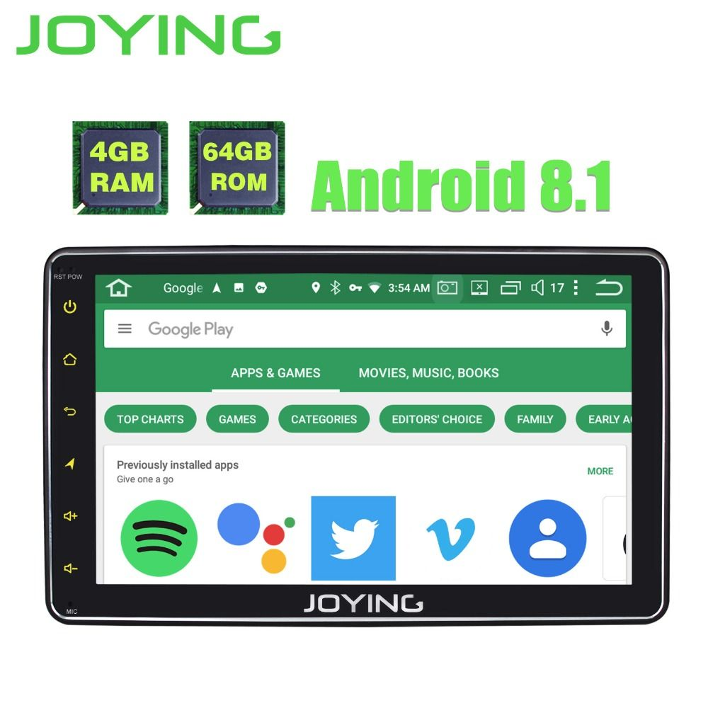 Joying 4 gb + 64 gb OCTA CORE 8 Android 8.1 Radio Stereo 1 Din Auto Multimedia Player GPS Auto radio HD Kopf Einheit DSP band recorder