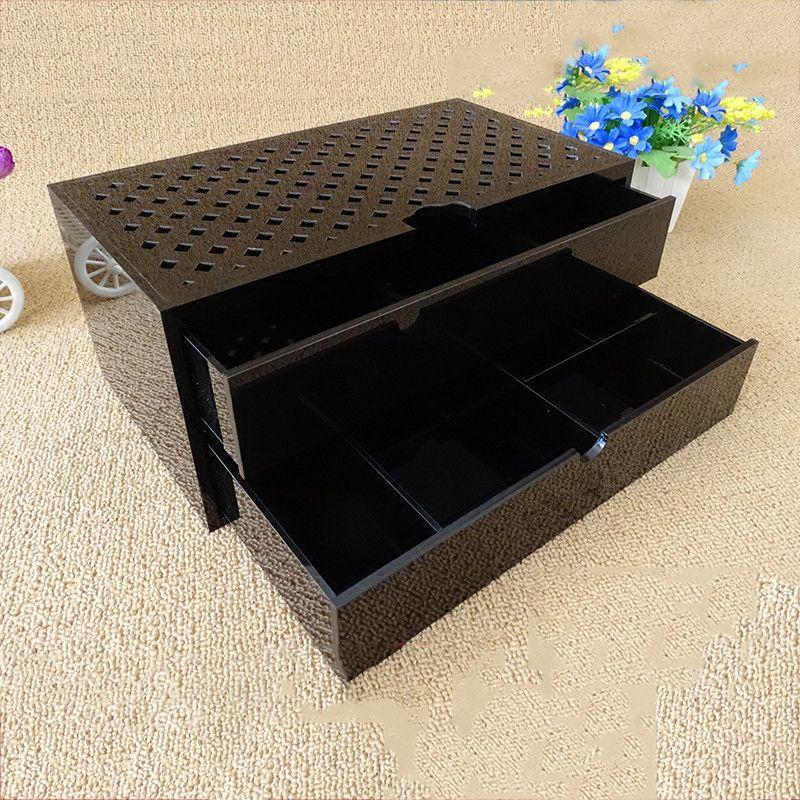 1/2 schicht Acryl Make-Up Organizer Storage Box Cosmetic Box Schmuck Box Fall Halter Ständer Machen up Organizer
